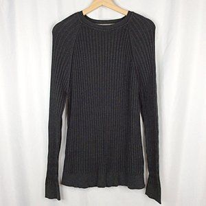 Age of Wisdom Sweater Long Sleeve Ribbed Knit Crew